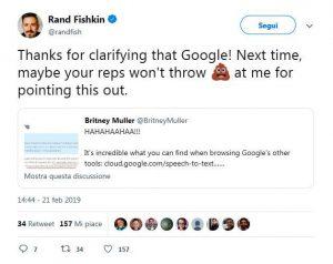 Google e CTR, il tweet di Fishkin