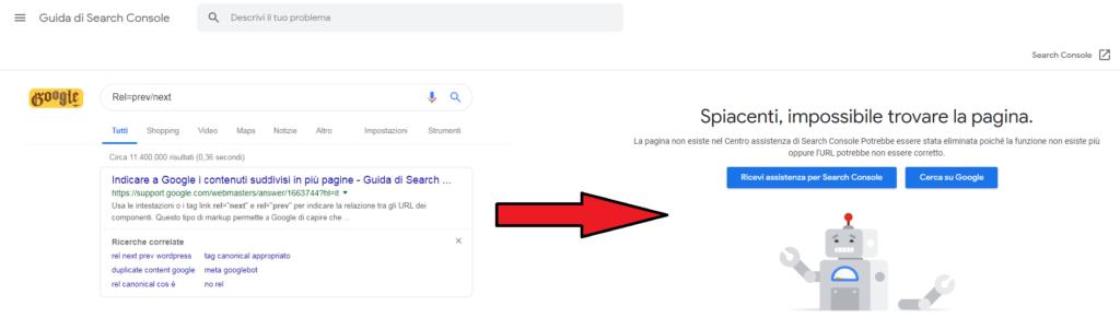 Paginazione, Google elimina la pagina dei consigli