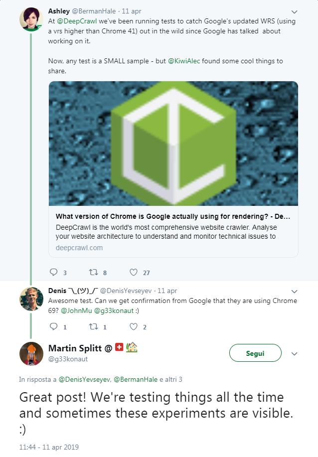 Da Google confermano l'aggiornamento