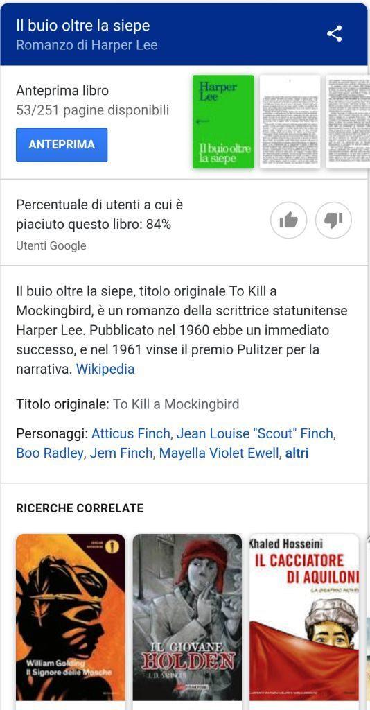 Google Search, i libri