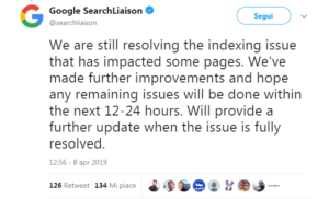 Indexing issue per Google