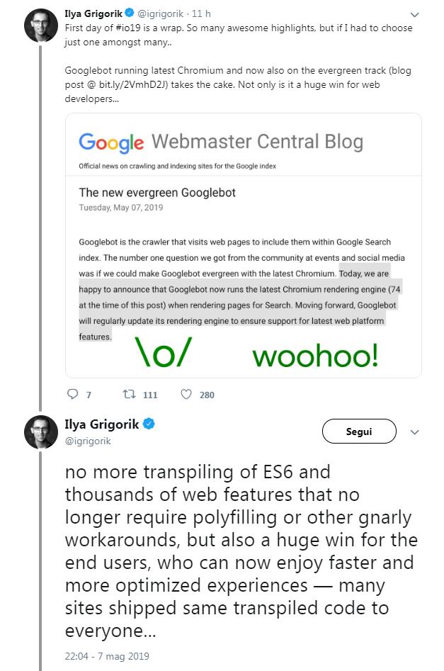 I vantaggi del nuovo GoogleBot