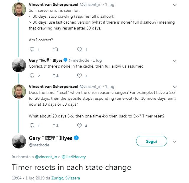 Gli screen Twitter di Gary Illyes