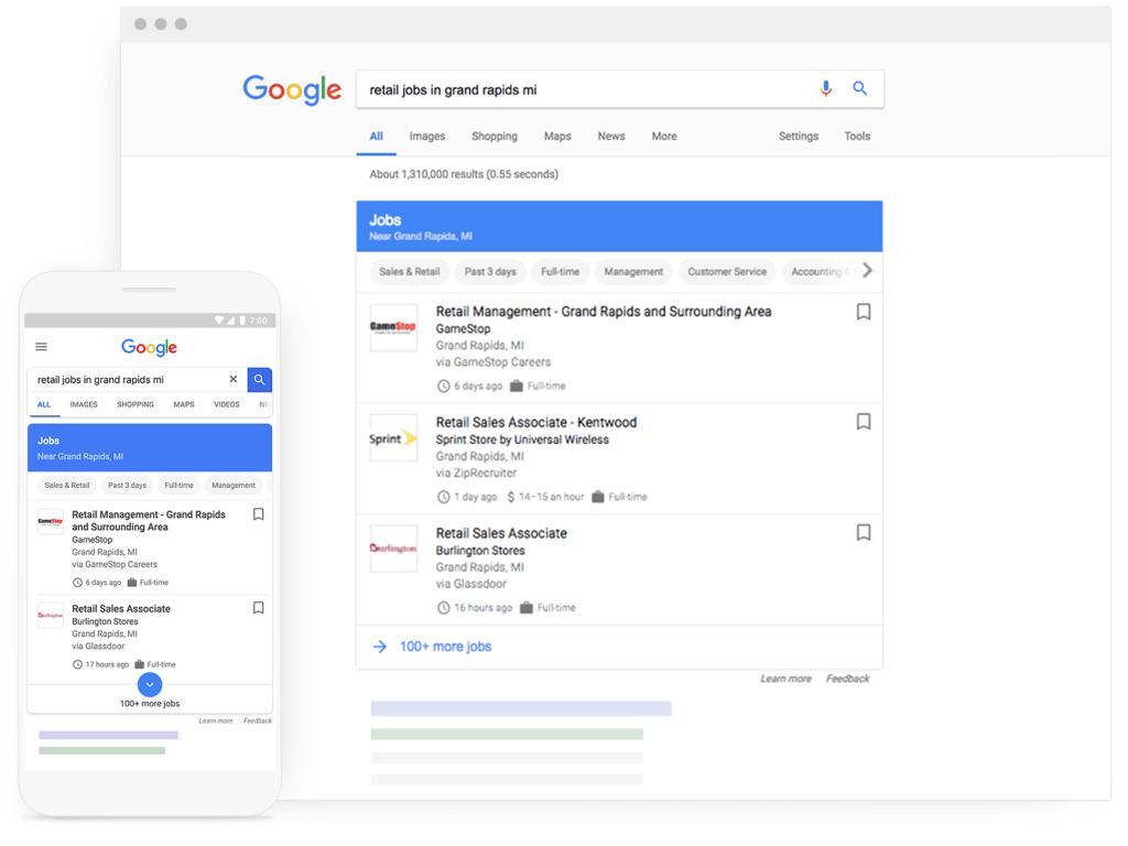 Arriva in Italia Google Jobs Search