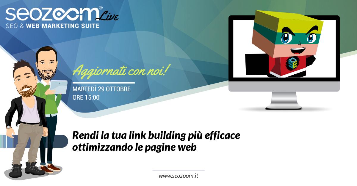 webinar migliorare link building