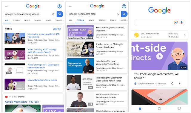 Google Search, come appaiono i video