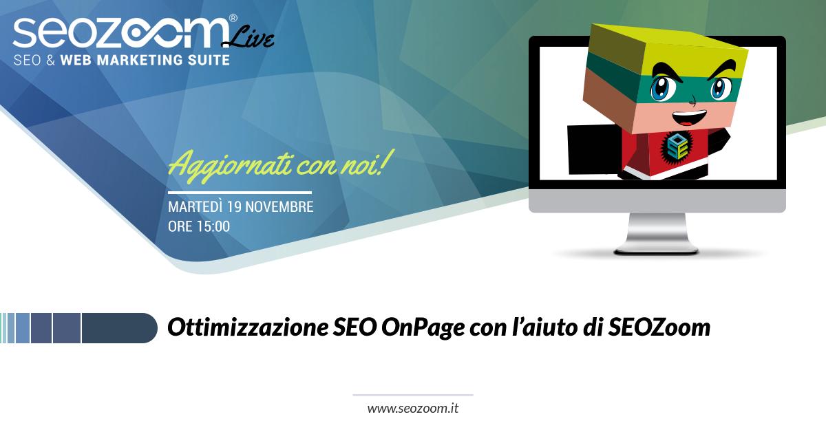 webinar ottimizzazione onpage