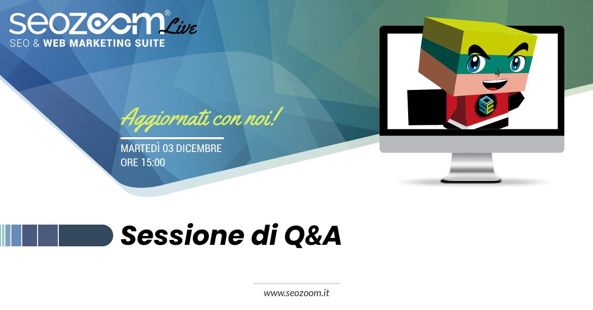 SEOZoom Live: Q&A con il team di SEOZoom
