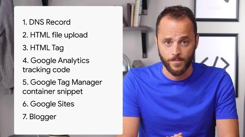 Google descrive i 7 metodi per verificare la proprietà in Search Console
