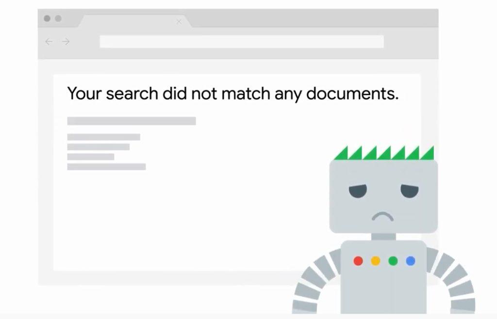 Google non ha indicizzato il sito
