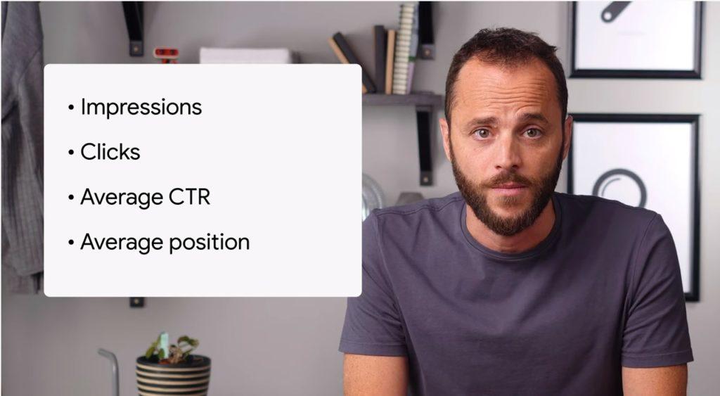 Cosa sono le metriche in Search Console