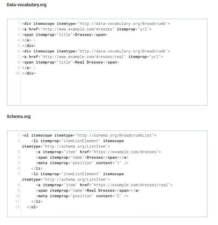 Differenze tra data-vocabulary e schema.org
