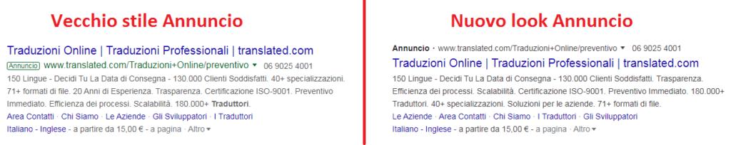 Paragone confronto Google ADS