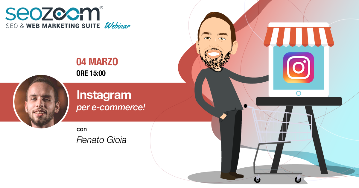 Webinar con Renato Gioia Instagram per e-commerce