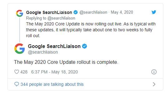 Google annuncia la fine del rollout dell'aggiornamento