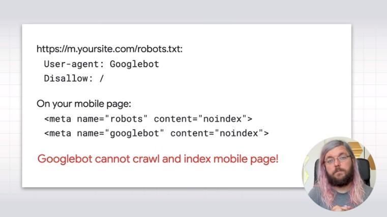 Errori con robots.txt e meta tag