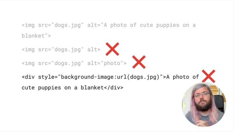 Errori con gli attributi delle immagini mobile