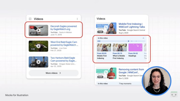 SERP Google, video con informazioni aggiuntive