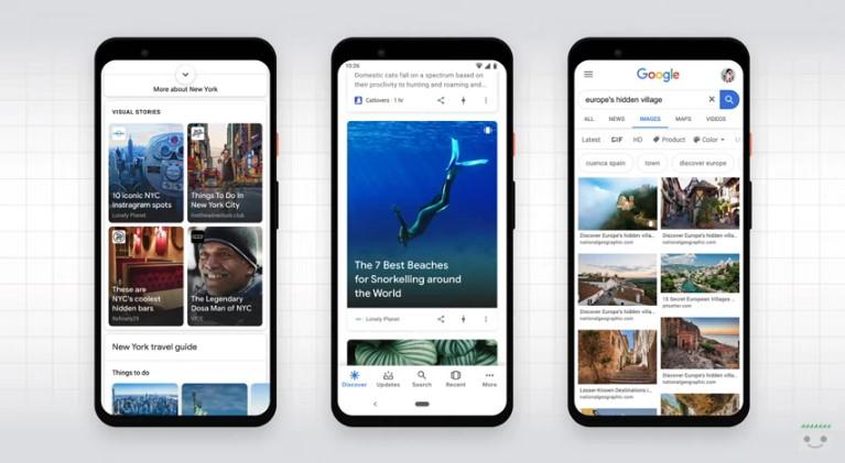 Come appaiono le Web Stories su Google