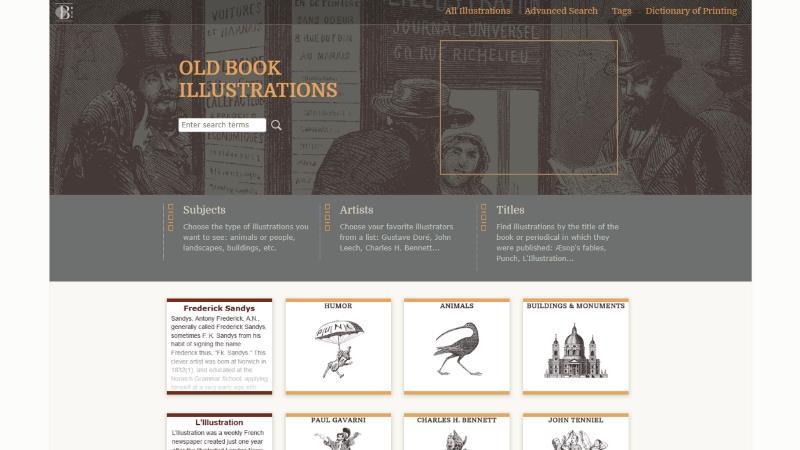Screen di Old book Illustrations