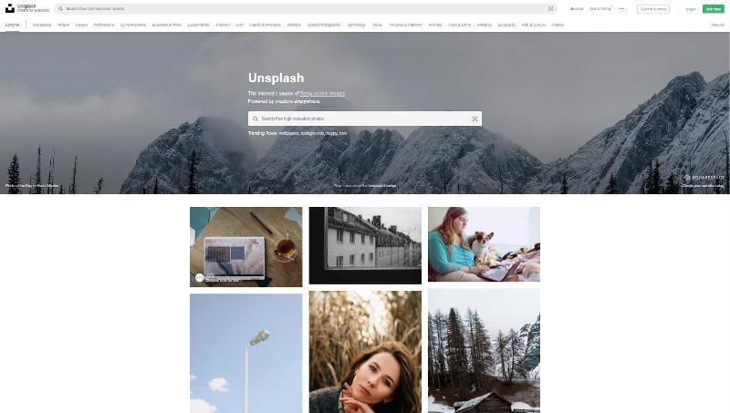 Screen di Unsplash