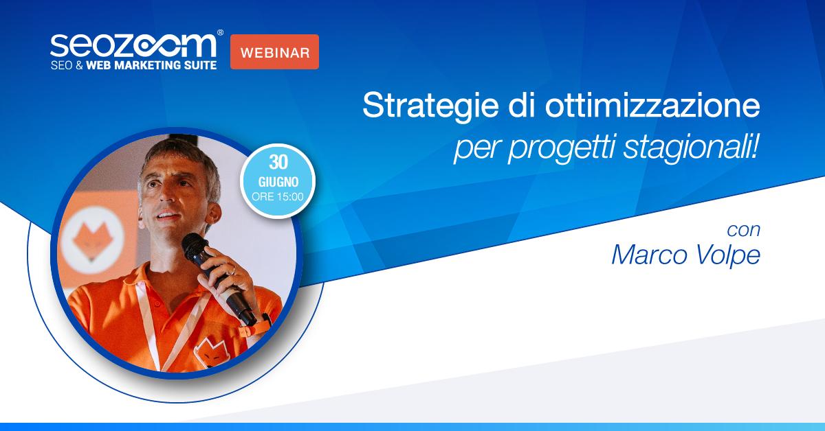 Webinar Strategie di ottimizzazione per progetti stagionali