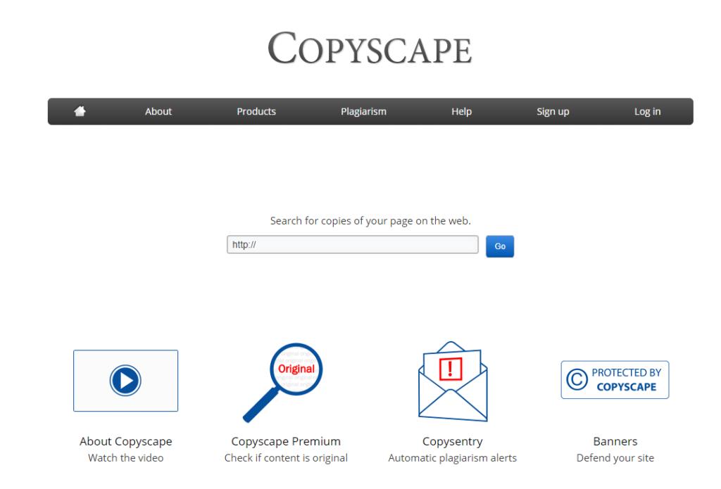 Home page di Copyscape
